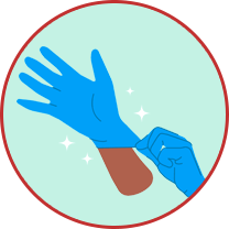 Mandatory change of gloves